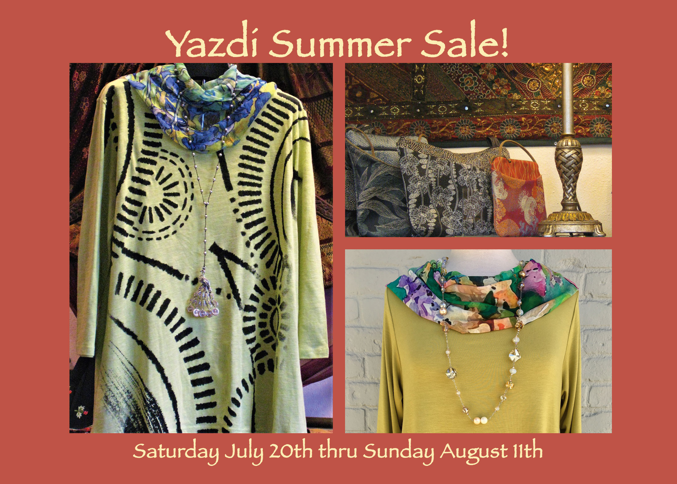 It's Our Annual Summer Sale! July 20 – August 11