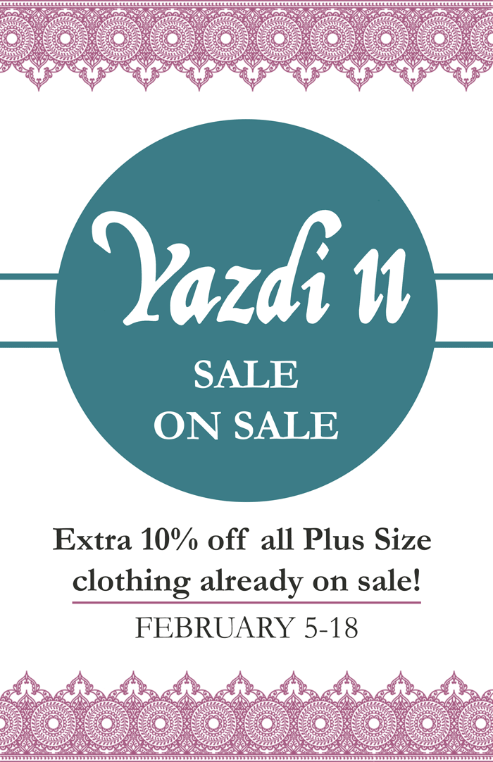 Yazdi II is having a sale on sale items!