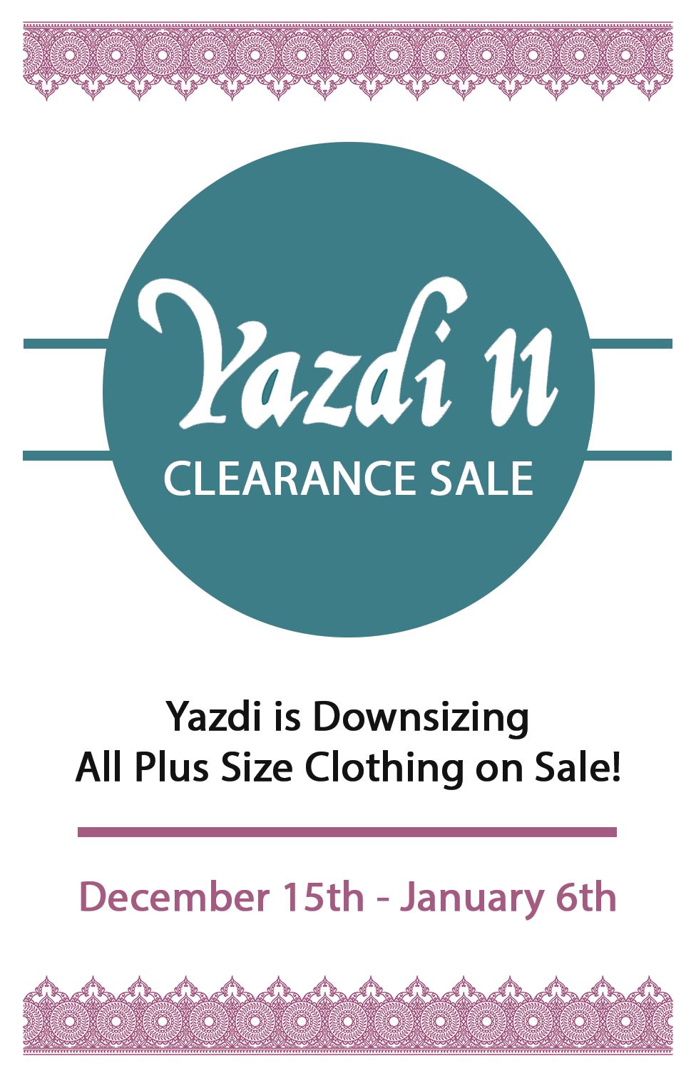 Yazdi Alert! – Yazdi II is Downsizing into Yazdi!